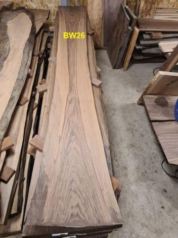 Amerikansk Valnød Planke  275 * 40/30/37 *  5.0 cm