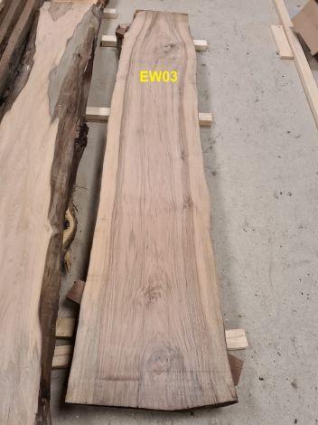 Europæisk Valnød Planke 254 * 41/50/52 * 5.5 cm