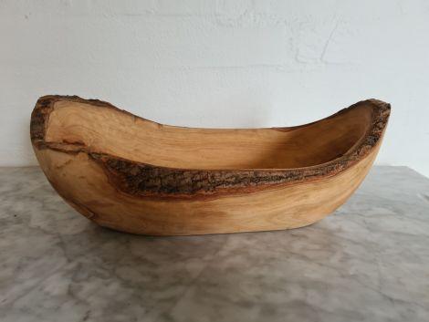 Frugt skål i Oliventræ (Lang) - 34x16x12